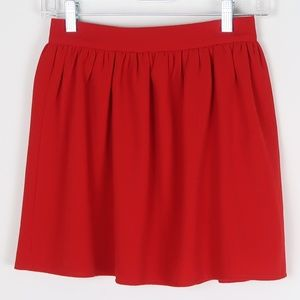 Tobi Skirts - Tobi Red Skater/Circle Skirt S